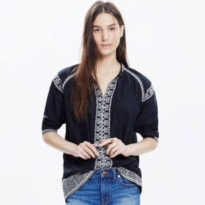 Madewell Embroidered Tassel Top
